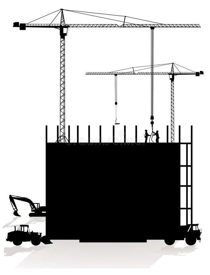 εργοτάξιο οικοδομής απεικόνιση αποθεμάτων