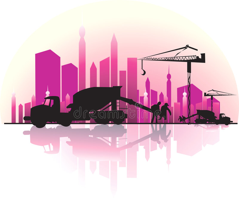 εργοτάξιο οικοδομής ελεύθερη απεικόνιση δικαιώματος