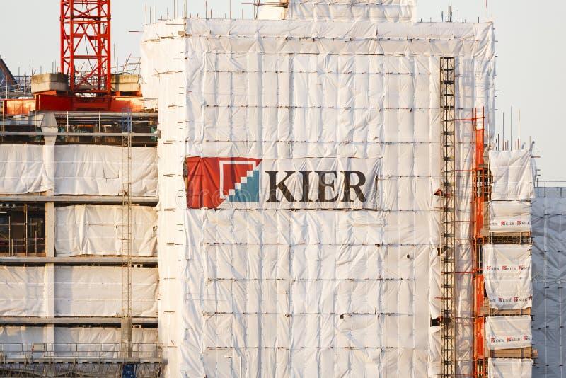 Εργοτάξιο οικοδομής PLC ομάδας Kier στοκ εικόνες