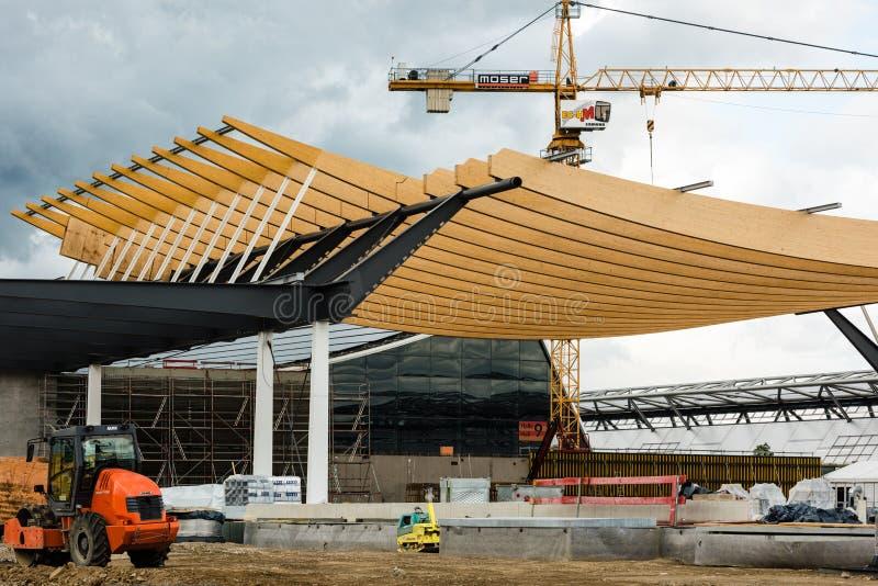 Εργοτάξιο οικοδομής μιας νέας αίθουσας έκθεσης στη Στουτγάρδη, Γερμανία στοκ φωτογραφίες