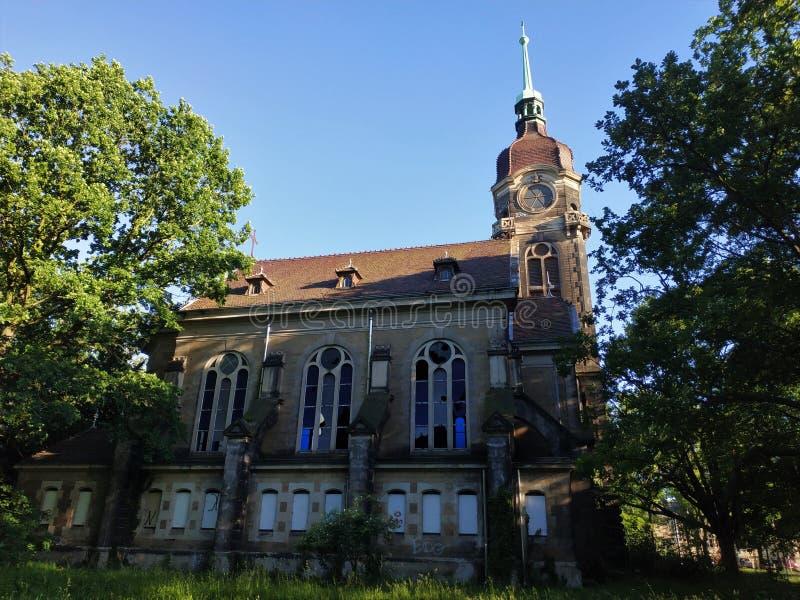 Ερείπια εκκλησίας στο λόφο Sonnenstein στην Pirna στοκ φωτογραφία με δικαίωμα ελεύθερης χρήσης