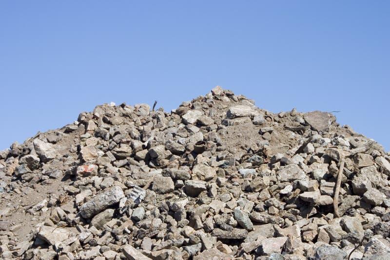 ερείπια ρύπου στοκ εικόνα