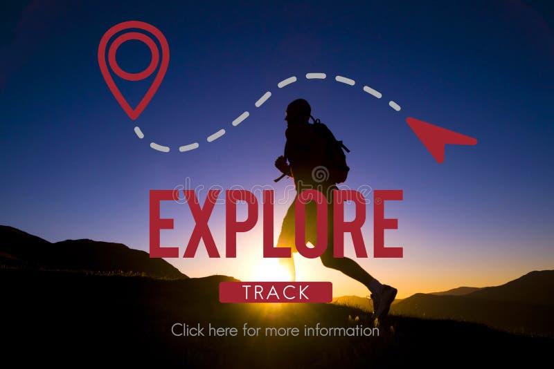 Ερευνήστε την έννοια διακοπών ταξιδιού ταξιδιού ταξιδιών εμπειρίας στοκ εικόνα με δικαίωμα ελεύθερης χρήσης