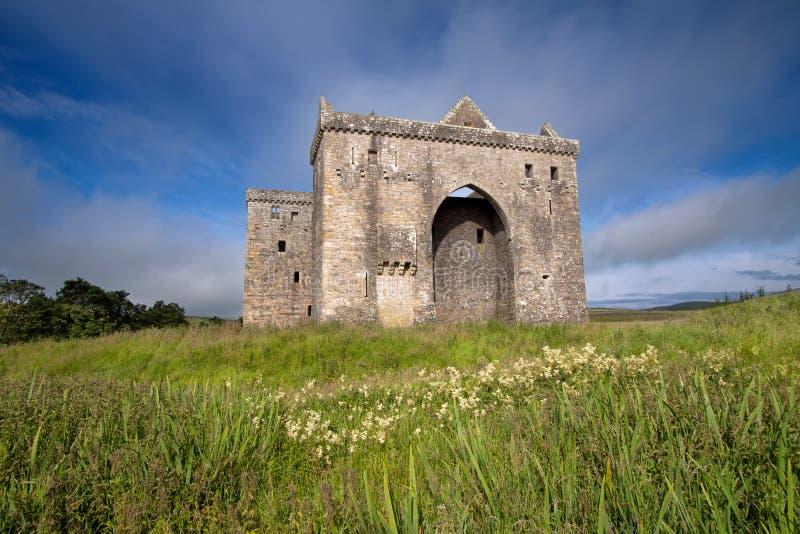 Ερημητήριο Castle, σκωτσέζικα σύνορα στοκ φωτογραφίες με δικαίωμα ελεύθερης χρήσης