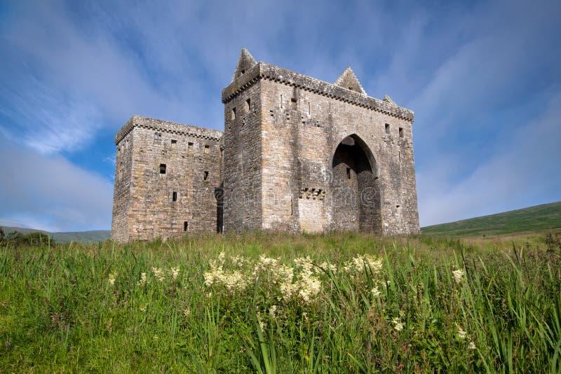 Ερημητήριο Castle, σκωτσέζικα σύνορα στοκ φωτογραφίες