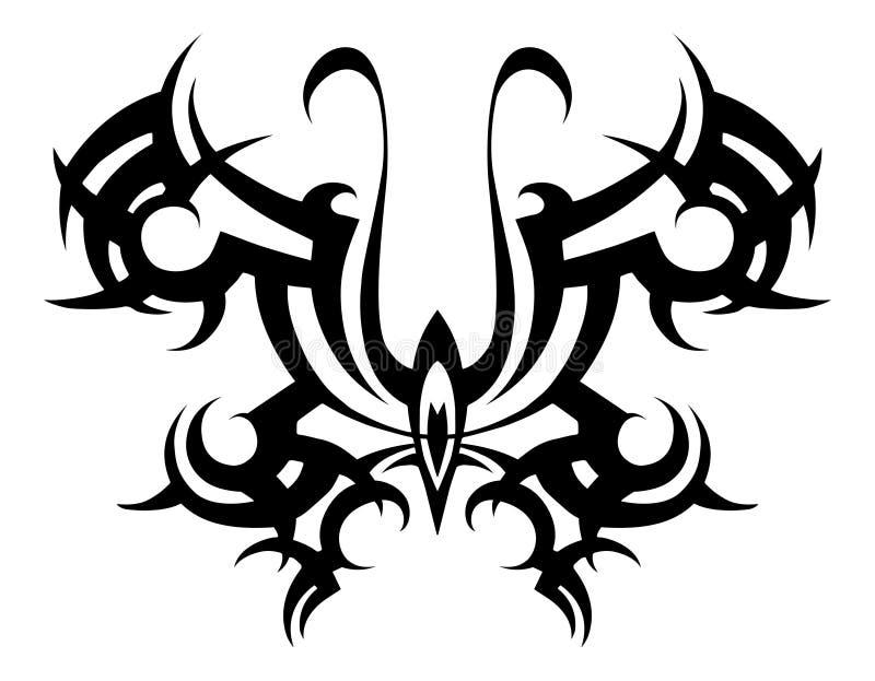 δερματοστιξία φυλετική Διάνυσμα φυλετικό διάτρητο αφηρημένο μαύρο λευκό πεταλούδων Σχέδιο Διακόσμηση Περίληψη απεικόνιση αποθεμάτων