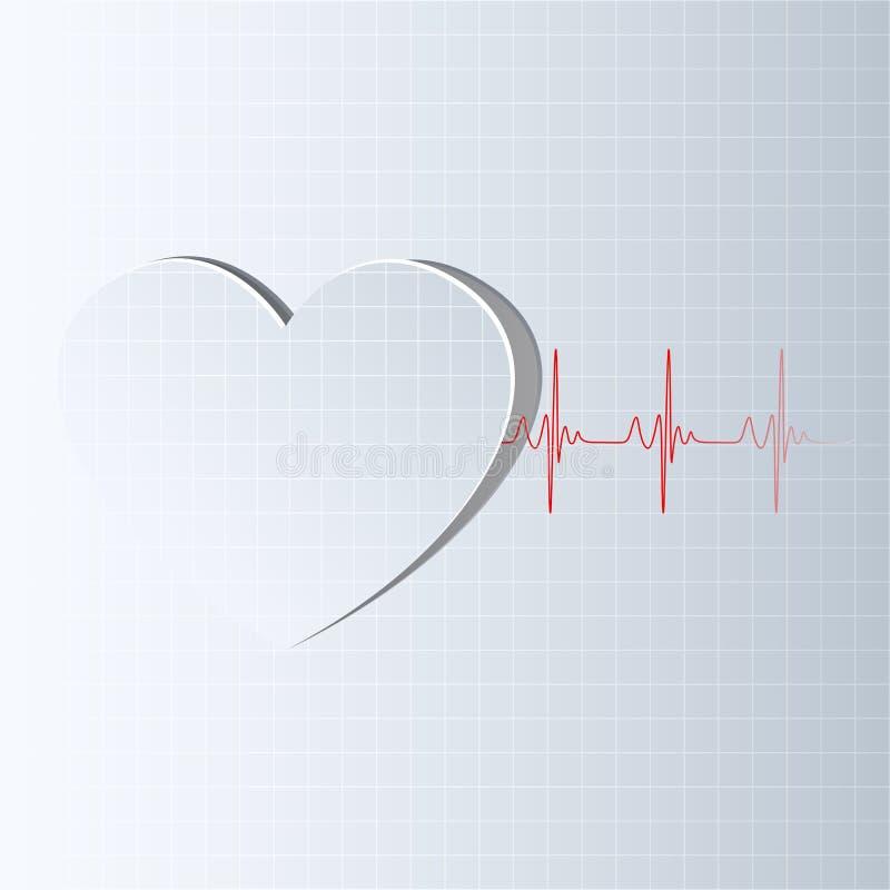 ερχόμενη γραμμή ζωής καρδιών διανυσματική απεικόνιση