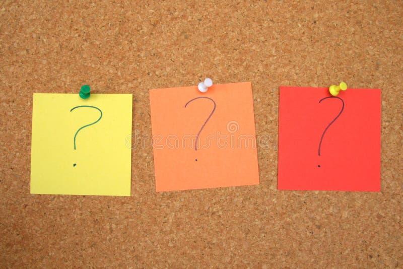 ερωτήσεις αναπάντητες στοκ φωτογραφία με δικαίωμα ελεύθερης χρήσης