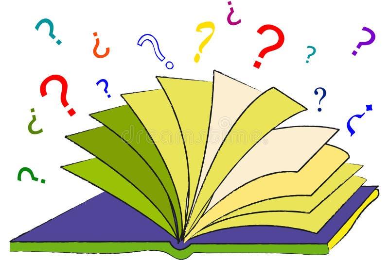 ερωτήσεις βιβλίων ελεύθερη απεικόνιση δικαιώματος