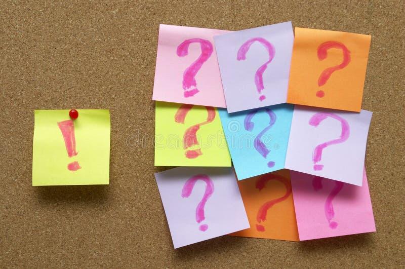 ερωτήσεις θαυμαστικών &epsilo στοκ εικόνα