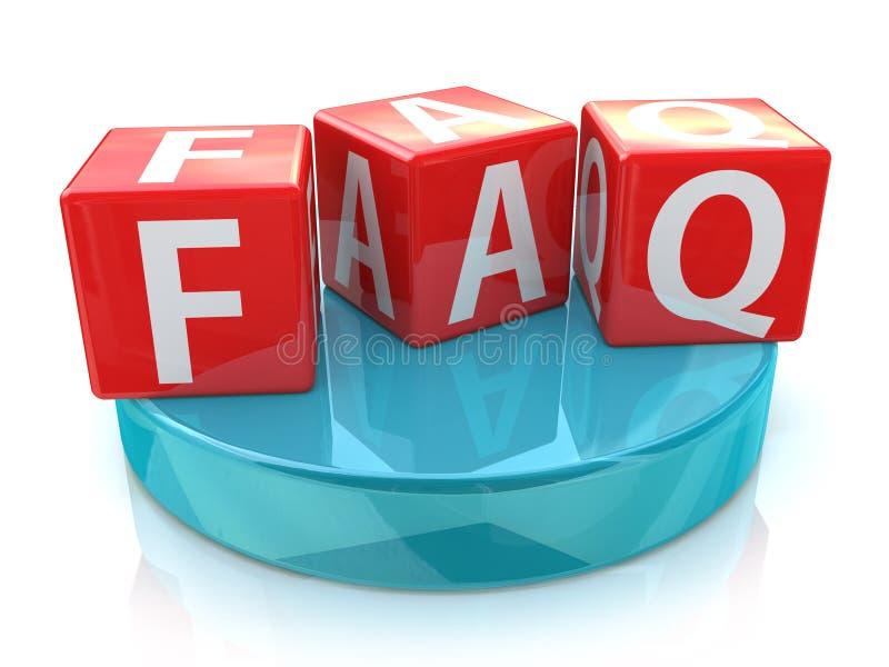 Ερωτήσεις κύβων faq συχνά απεικόνιση αποθεμάτων