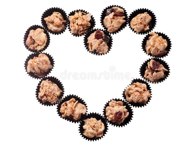Ερωτευμένη μορφή μπισκότων δημητριακών στοκ εικόνες με δικαίωμα ελεύθερης χρήσης