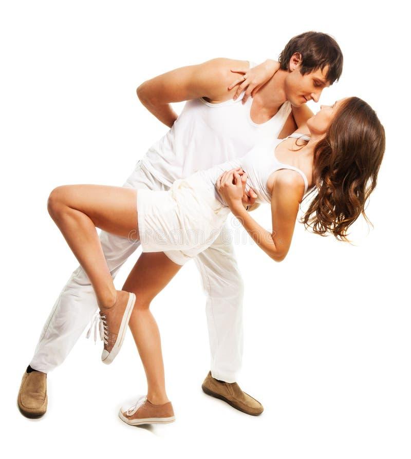 Ερωτευμένος χορός ζεύγους στοκ φωτογραφία