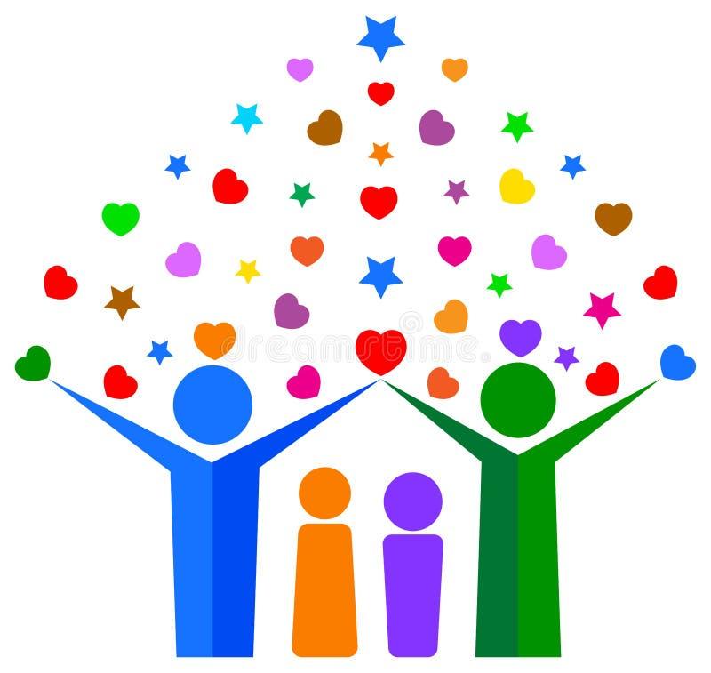 Ερωτεύσιμο οικογενειακό δέντρο ελεύθερη απεικόνιση δικαιώματος