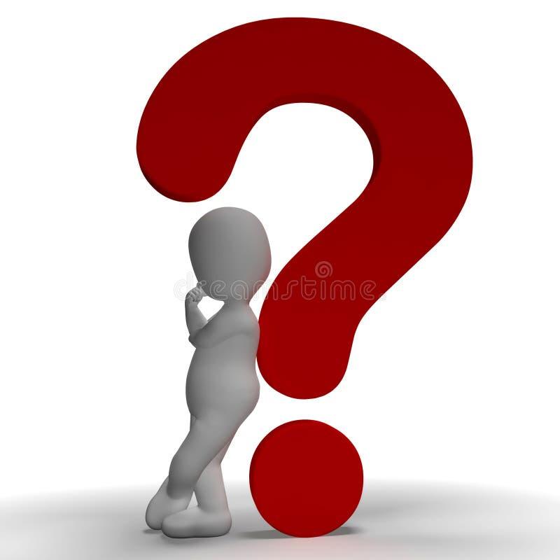 Ερωτηματικά και παρουσίαση ατόμων αβέβαιη ή αβέβαιη διανυσματική απεικόνιση