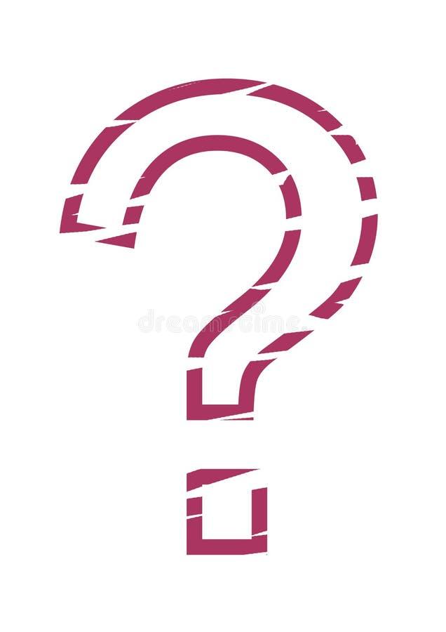 ερωτηματικό διάτρητων διανυσματική απεικόνιση