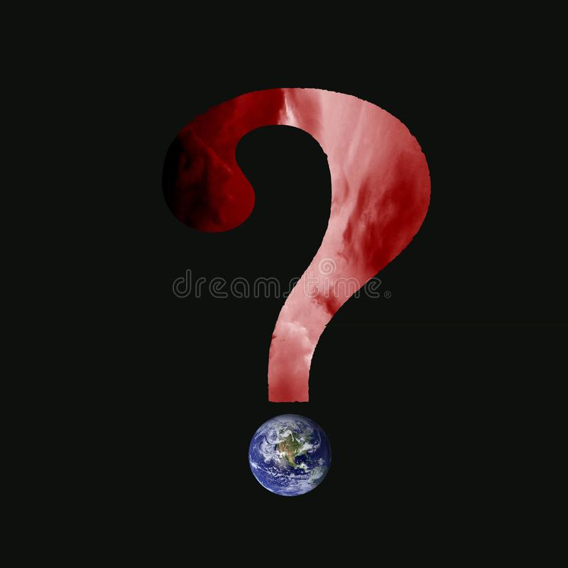 Ερωτηματικό κινδύνου κλιματικής αλλαγής στοκ εικόνα με δικαίωμα ελεύθερης χρήσης