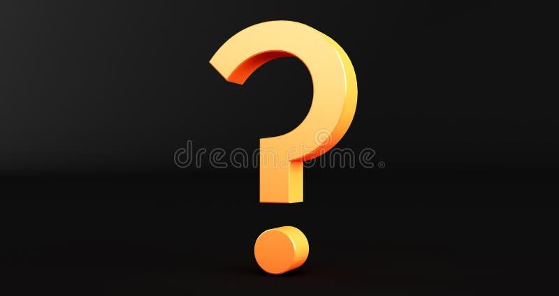 Ερωτηματικό στο μαύρο φόντο Θαυμαστικό και ερωτηματικό διανυσματική απεικόνιση
