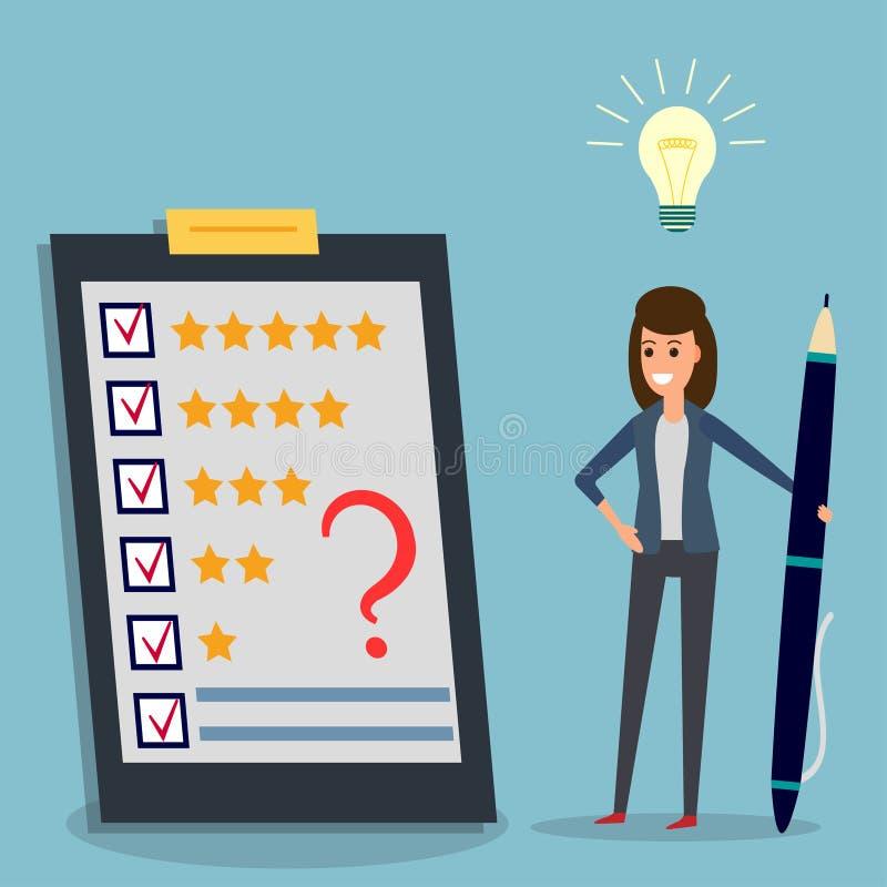 Ερωτηματολόγιο, επιχειρηματίας, μάνδρα, βολβός ιδέας, σημάδι απεικόνιση αποθεμάτων
