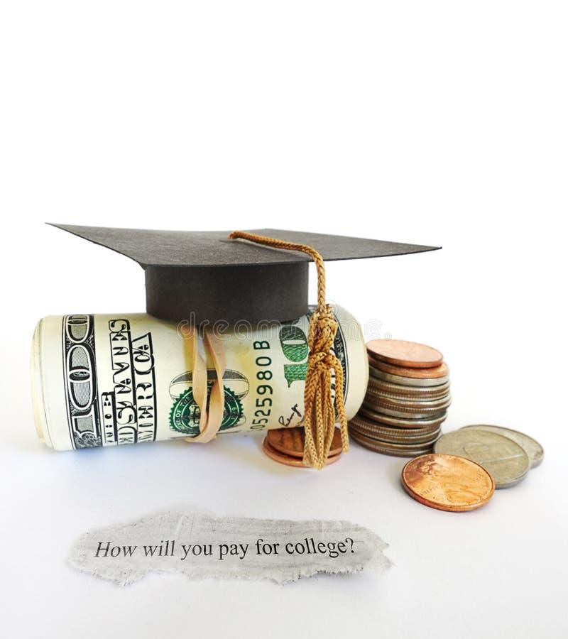 Ερώτηση δαπανών κολλεγίου στοκ φωτογραφίες