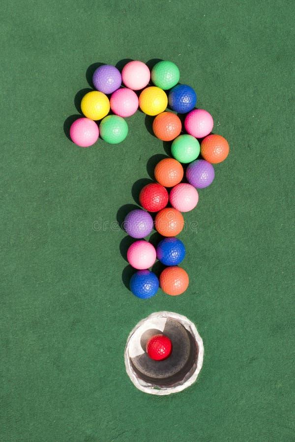ερώτηση γκολφ στοκ εικόνα με δικαίωμα ελεύθερης χρήσης