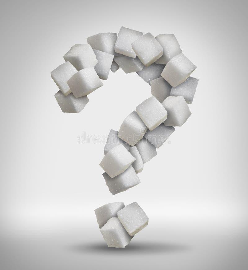 Ερώτηση ζάχαρης ελεύθερη απεικόνιση δικαιώματος