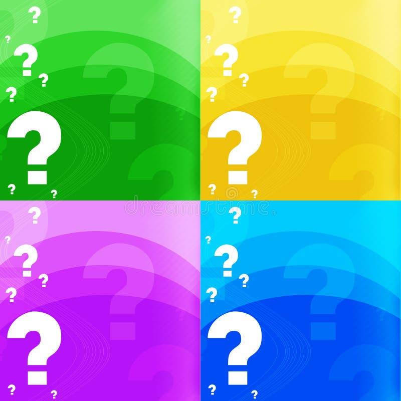 ερώτηση σημαδιών ανασκόπησης στοκ εικόνα