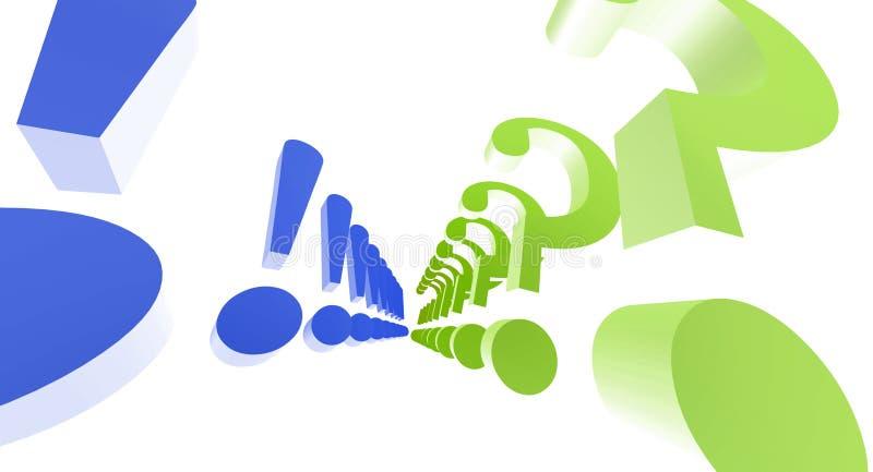 ερώτηση σημαδιών θαυμαστ&iot απεικόνιση αποθεμάτων