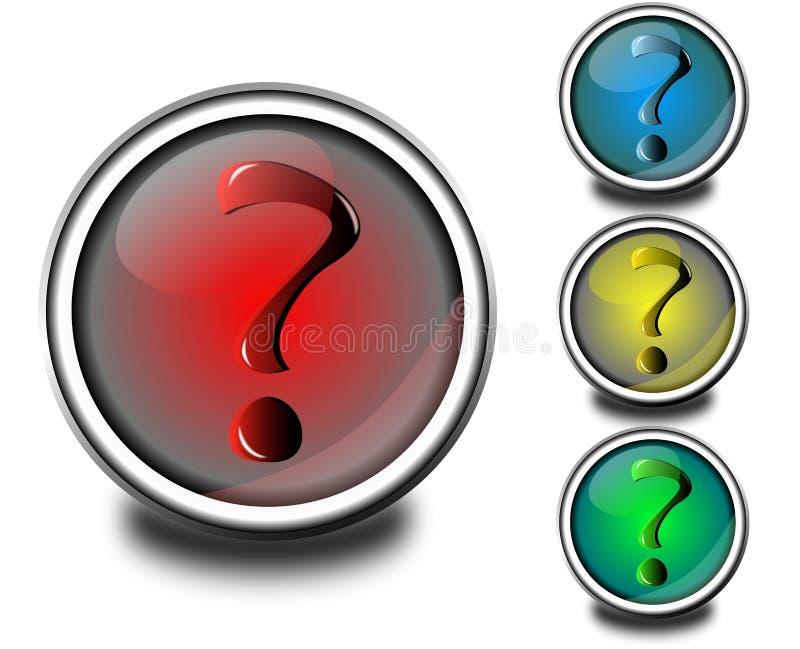 ερώτηση σημαδιών κουμπιών διανυσματική απεικόνιση