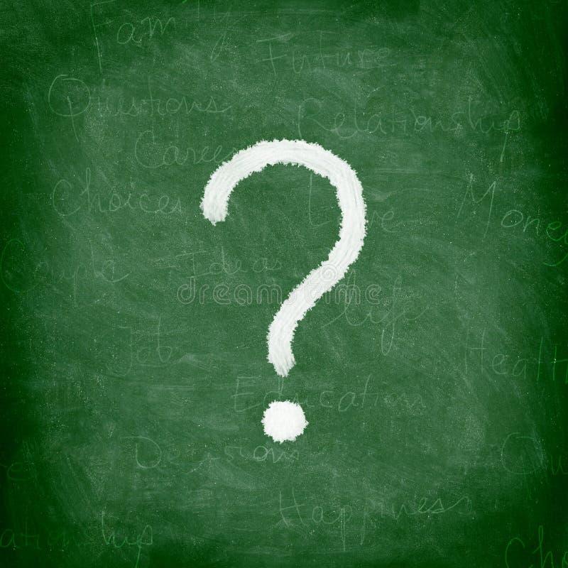 ερώτηση σημαδιών πινάκων στοκ εικόνες