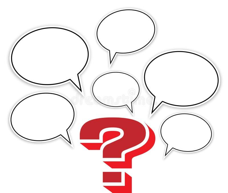 ερώτηση σημαδιών φυσαλίδ&omega απεικόνιση αποθεμάτων