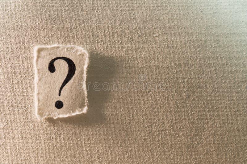 ερώτηση σημαδιών στοκ φωτογραφία
