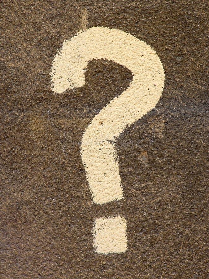 ερώτηση σημαδιών στοκ εικόνα με δικαίωμα ελεύθερης χρήσης