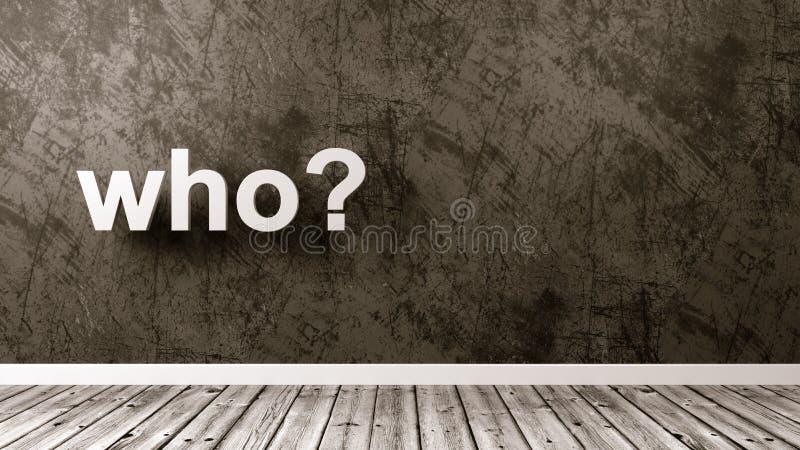 Ερώτηση cWho στο δωμάτιο ελεύθερη απεικόνιση δικαιώματος