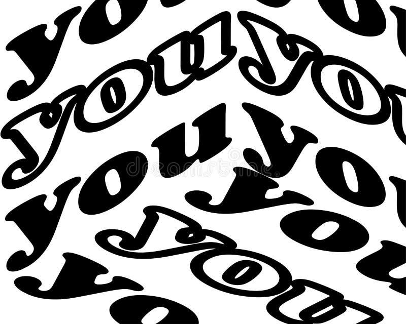 Εσείς επιγραφή Εμπνευσμένο απόσπασμα, κίνητρο Τυπογραφία για την μπλούζα, πρόσκληση, εκτύπωση μπλουζών ευχετήριων καρτών και απεικόνιση αποθεμάτων