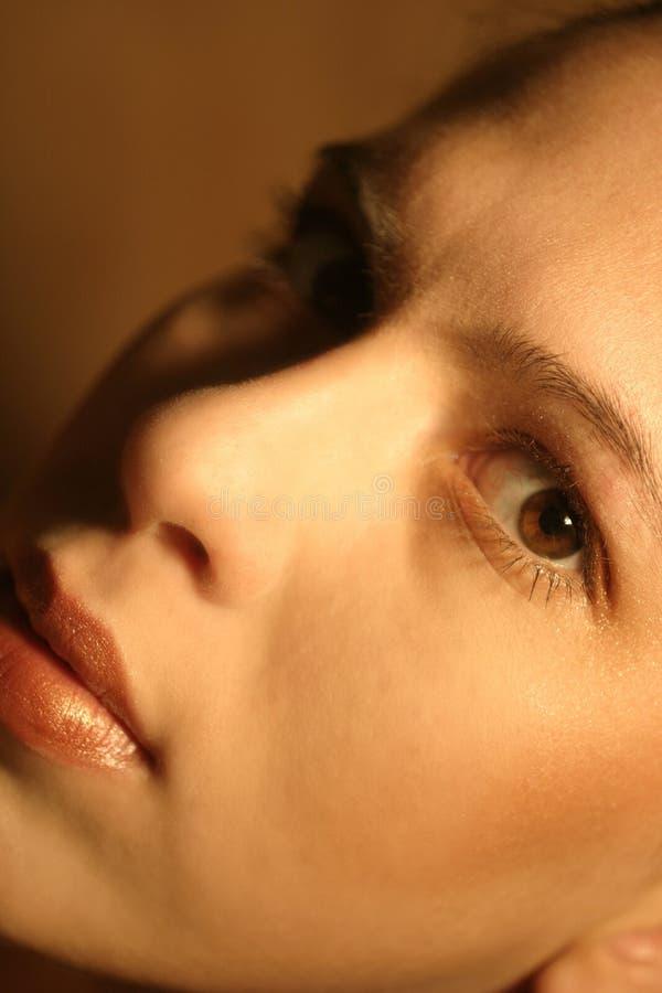 Download εσείς στοκ εικόνα. εικόνα από μάτι, visage, σοβαρός, makeup - 100231
