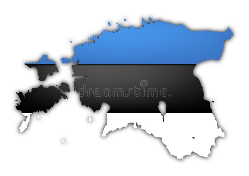 Εσθονία διανυσματική απεικόνιση