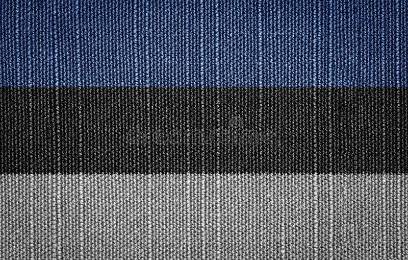 Εσθονικές σημαίες υφάσματος στοκ εικόνες με δικαίωμα ελεύθερης χρήσης