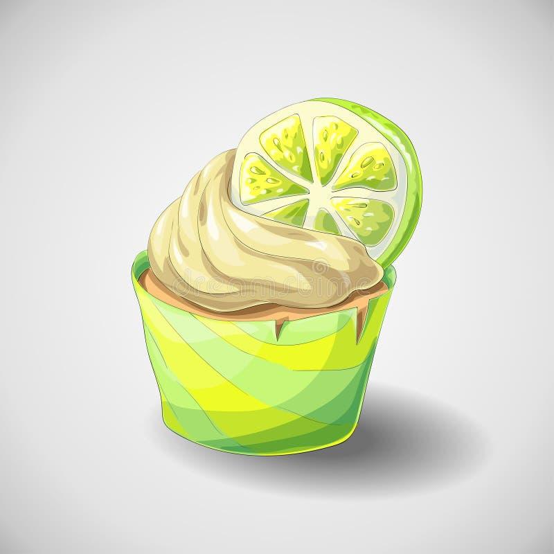 Εσπεριδοειδή cupcake ελεύθερη απεικόνιση δικαιώματος