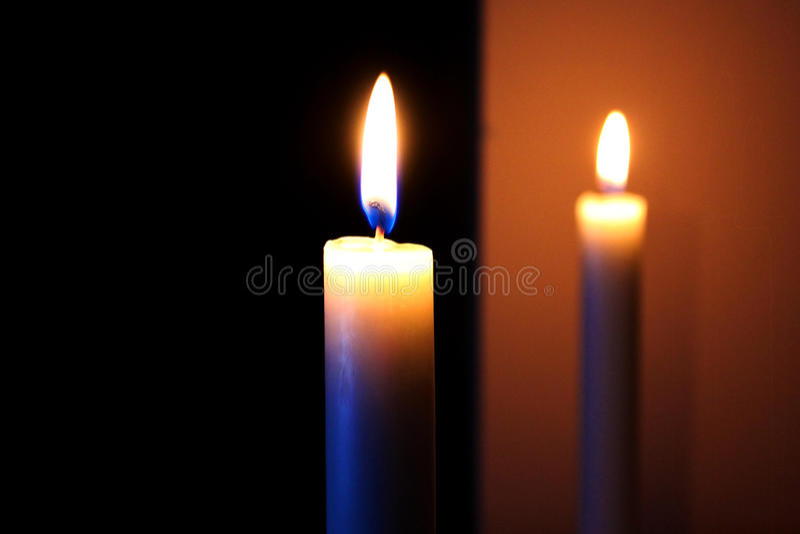 εστίαση κεριών στοκ εικόνες