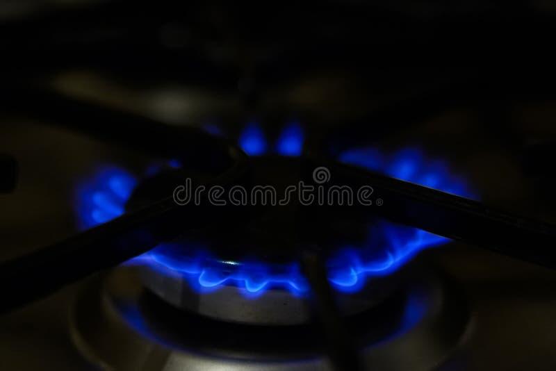 Εστίαση στην μπροστινή άκρη των καυστήρων αερίου στοκ φωτογραφία με δικαίωμα ελεύθερης χρήσης