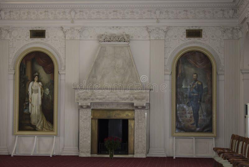 Εστία στην εθιμοτυπική αίθουσα του αυτοκρατορικού παλατιού Livadia Κριμαία στοκ εικόνα