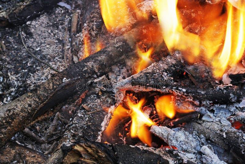 εστία Υπόλοιπα από την πυρκαγιά Το τελευταίο φως πριν από το ATT στοκ φωτογραφία με δικαίωμα ελεύθερης χρήσης