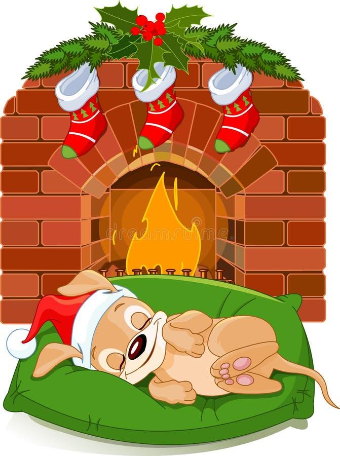 εστία Χριστουγέννων κοντά ελεύθερη απεικόνιση δικαιώματος