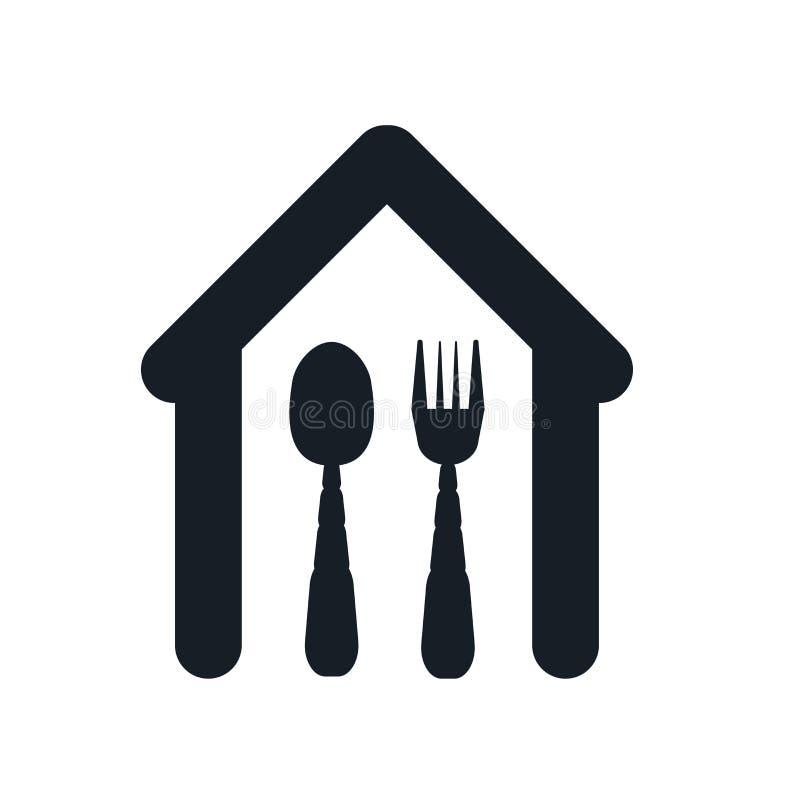 Εστιατορίων σημάδι και σύμβολο εικονιδίων διανυσματικό που απομονώνονται στο άσπρο υπόβαθρο, έννοια λογότυπων εστιατορίων διανυσματική απεικόνιση