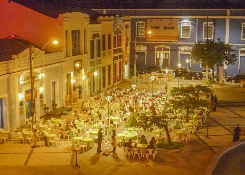 Εστιατόρια στο ιστορικό κέντρο Φορταλέζα Βραζιλία στοκ φωτογραφία