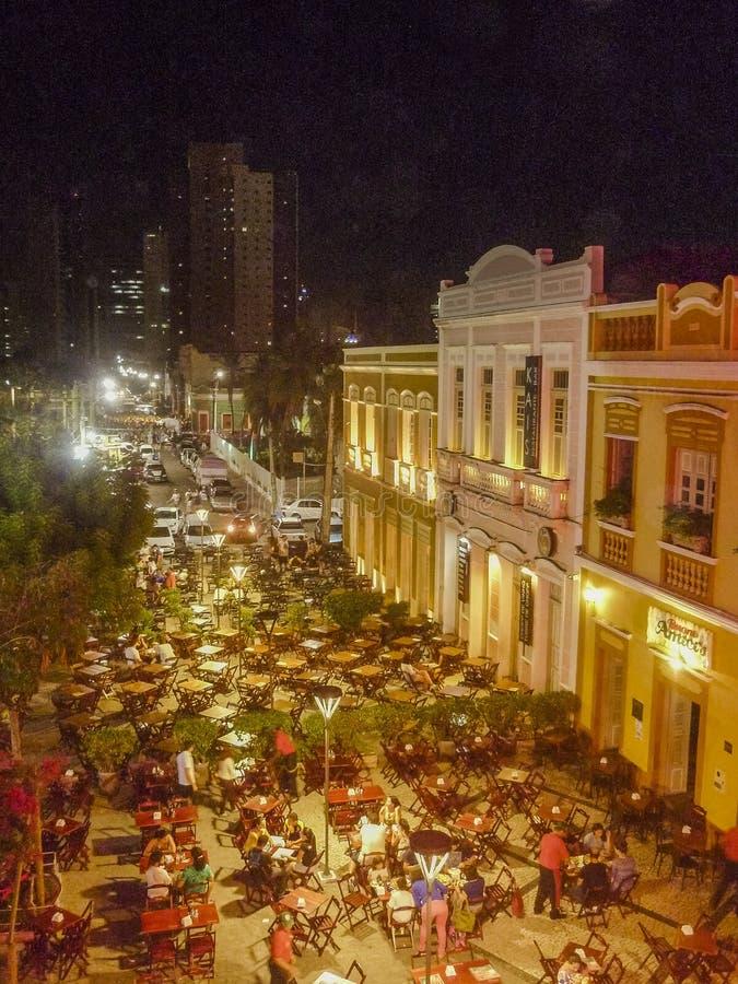 Εστιατόρια στο ιστορικό κέντρο Φορταλέζα Βραζιλία στοκ εικόνες με δικαίωμα ελεύθερης χρήσης