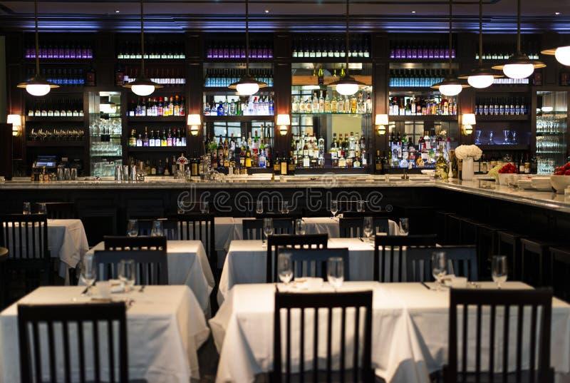 Εστιατόριο και ράβδος στοκ εικόνες