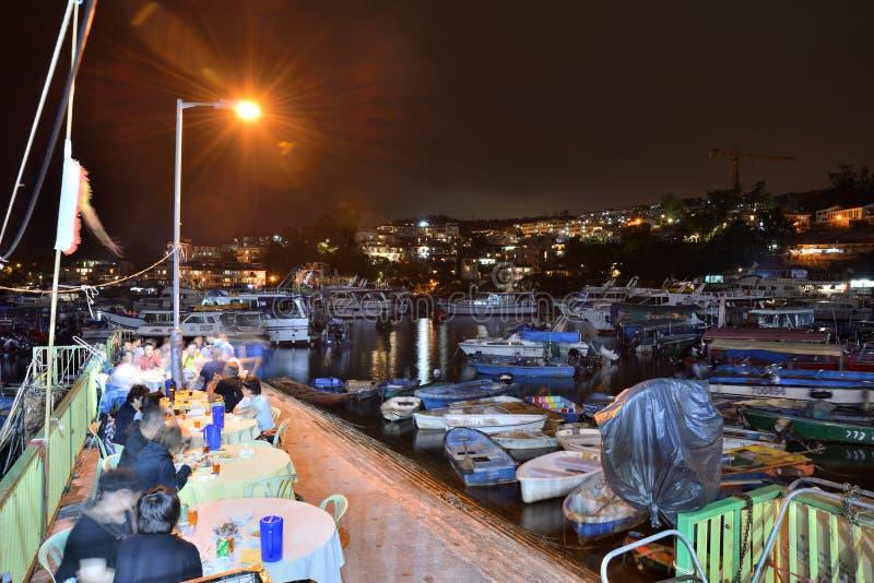 Εστιατόριο καταφυγίων Sampan βαρκών στοκ φωτογραφία με δικαίωμα ελεύθερης χρήσης