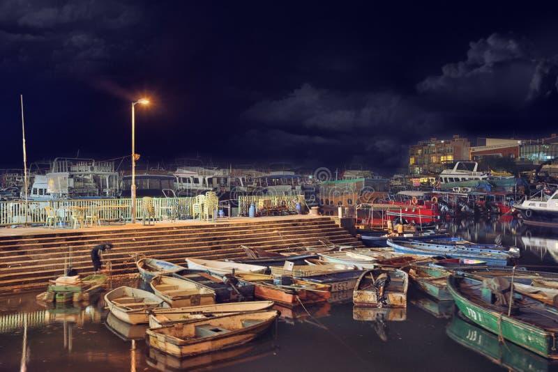 Εστιατόριο καταφυγίων Sampan βαρκών στοκ φωτογραφίες με δικαίωμα ελεύθερης χρήσης